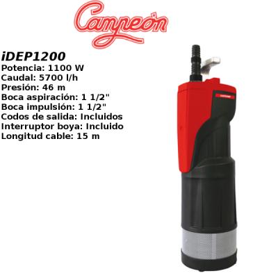 Bomba de agua campeon iDEP1200