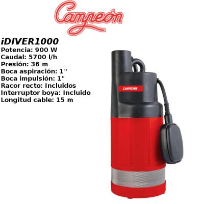Bomba de pozo campeon iDIVER1000