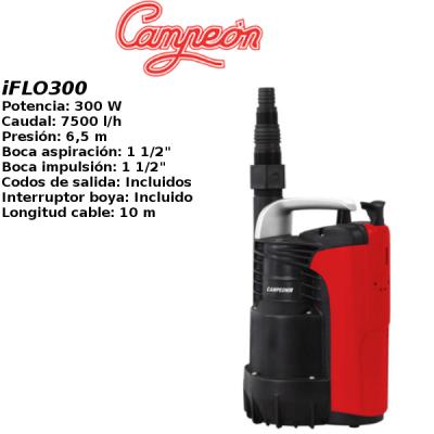 Bomba de agua campeon iFLO300
