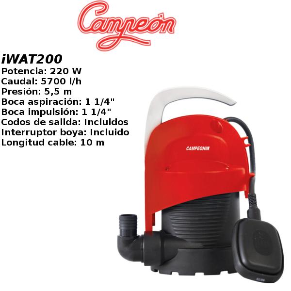 Bomba de agua campeon iWAT200