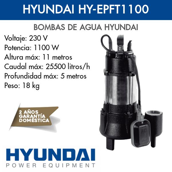 Bomba de agua Hyundai HY-EPFT1100