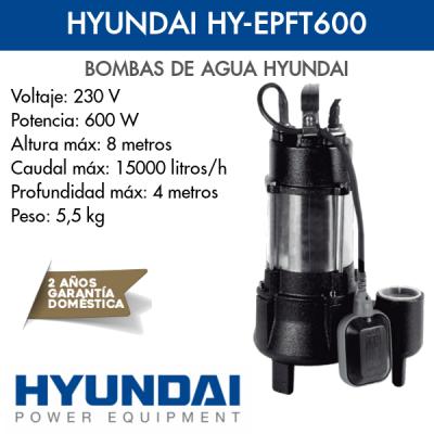 Bomba de agua Hyundai HY-EPFT600