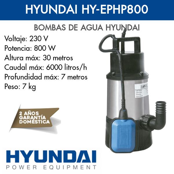 Bomba de agua Hyundai HY-EPHP800