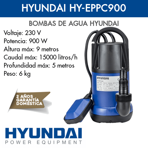 Bomba de agua Hyundai HY-EPPC900