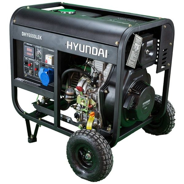 Generador elec. HYUNDAI DHY6000LEK Diesel mono A-E