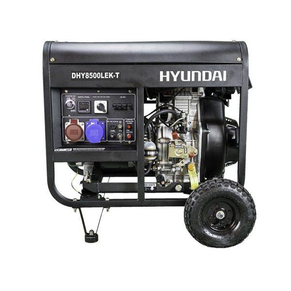 Generador electrico Hyundai DHY8500LEK-T Diesel Trif A-E