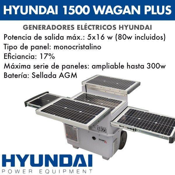 Generador eléctrico Hyundai 1500 WAGAN PLUS