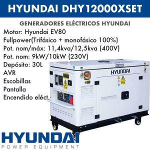 Generador eléctrico DHY12000XSET