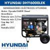 Generador electrico HYUNDAI DHY6000LEK