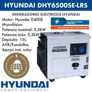 Generador eléctrico Hyundai DHY6500SE-LRS