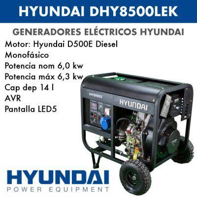 generador eléctrico Hyundai DHYK8500LEK