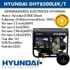 Generador electrico Hyundai DHYK8500LEK T