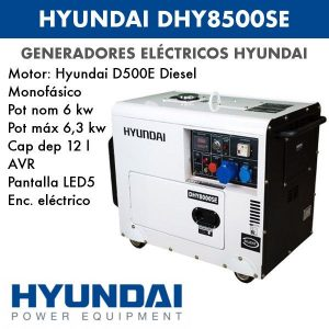 Generador electrico HYUNDAI DHY8500SE