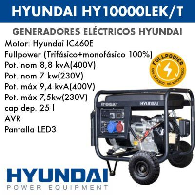 Generador electrico HYUNDAI HY10000LEK