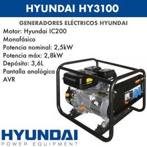 Generador eléctrico Hyundai HY3100