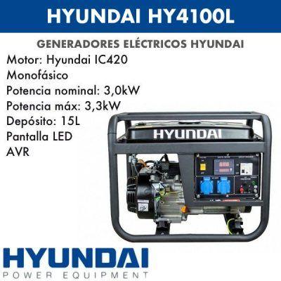 Generador eléctrico Hyundai HY4100L