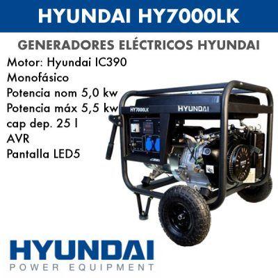 Generador electrico HYUNDAI HY7000LK