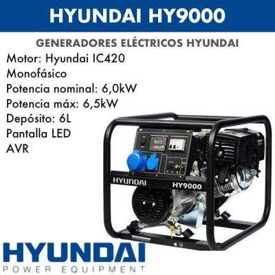 Generador eléctrico Hyundai HY9000
