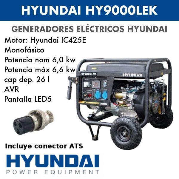 Generador eléctrico Hyundai HY9000LEK