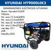 Generador electrico Hyundai hyk9000lek3