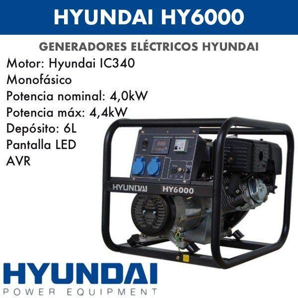 Generador electrico HYUNDAI HYK6000-b