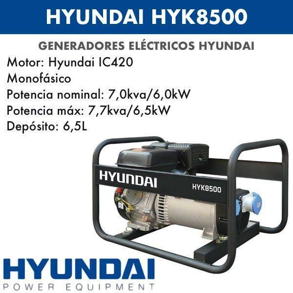 Generador eléctrico Hyundai 8500