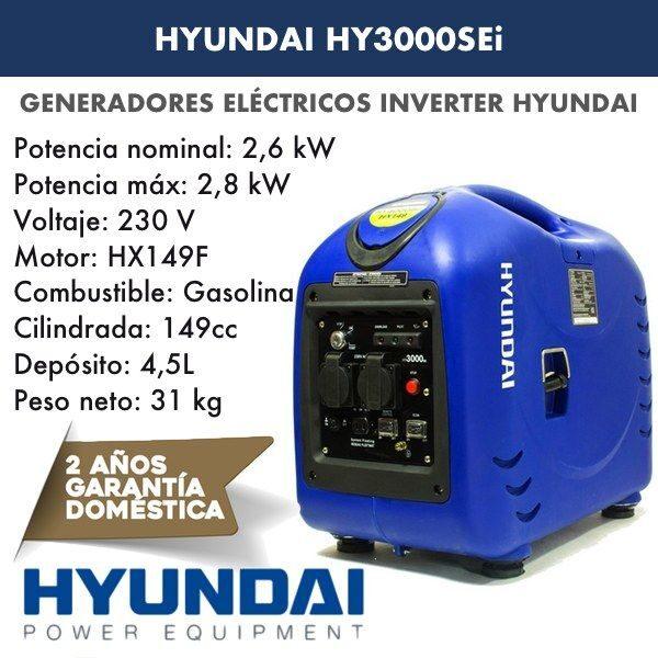 Generador inverter HYUNDAI HY3000SEi