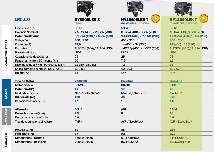 Generador electrico HYUNDAI HY12000LEKT A-E