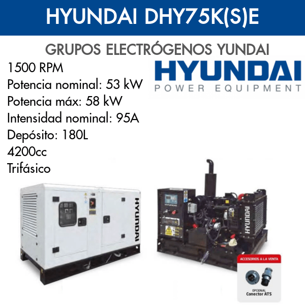 Grupo Electrógeno Hyundai DHY75K(S)E