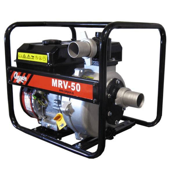 Motobomba gasolina Campeon MRV 50 de 6,5 CV, 30.000 l/h, Altura máxima 50 m.