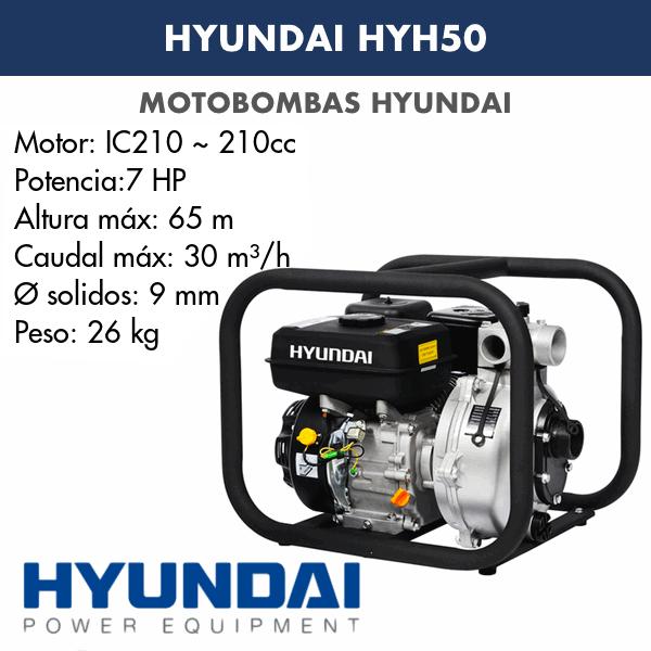 Motobomba Hyundai HYH50