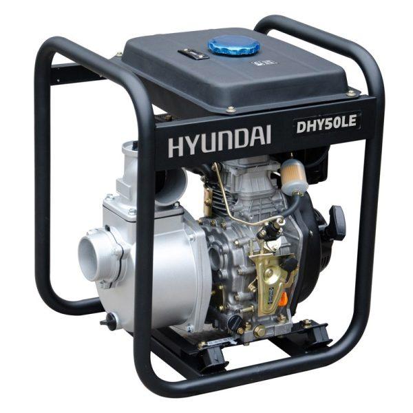 Hyundai DHY50LE 6 HP diesel motor pumps, 600 l / m., Alt. max. 34 m.
