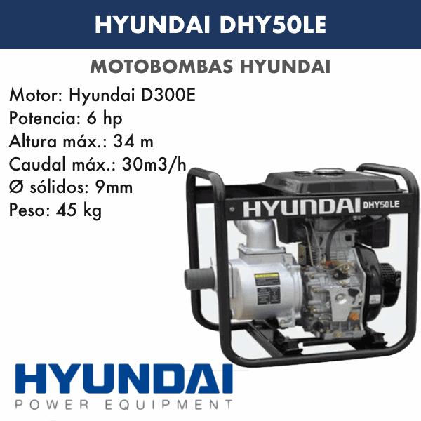 Motobombas diesel Hyundai DHY50LE