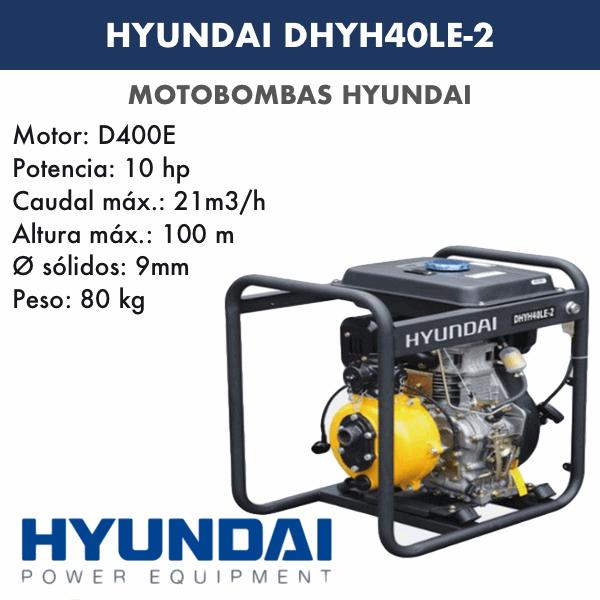 Motobombas diesel Hyundai DHYH40LE-2