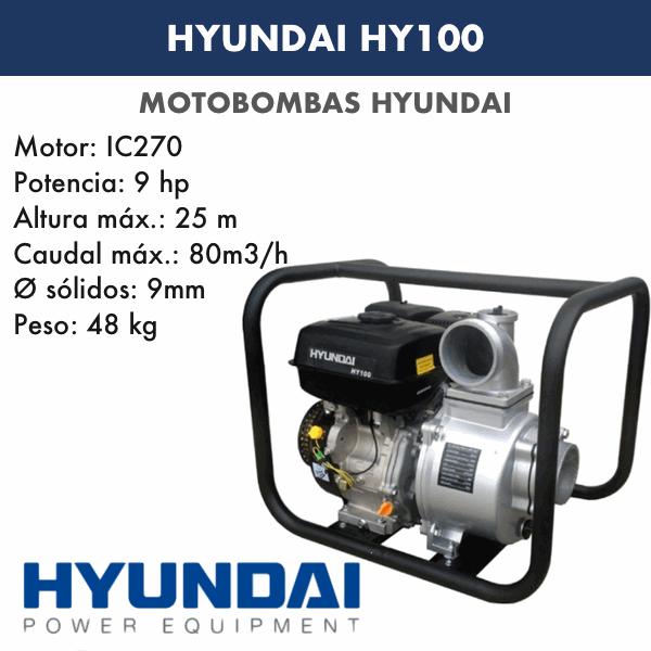Motobombas gasolina Hyundai HY100