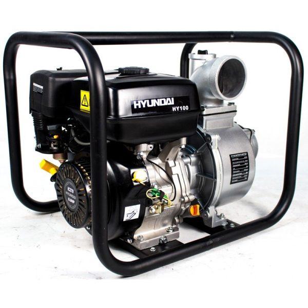 Motobombas gasolina Hyundai HY100 de 9,0 HP, 1330 l/m, alt. máx. 25 m.
