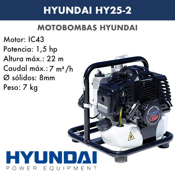 Motobombas gasolina Hyundai HY25-2
