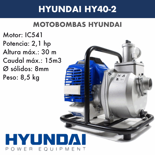 Motobombas gasolina Hyundai HY40-2