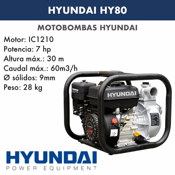 Motobombas gasolina Hyundai HY80