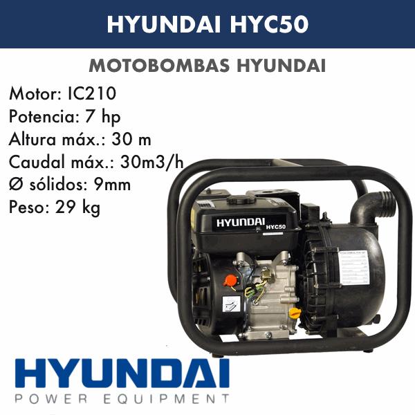 Motobombas gasolina Hyundai HYC50