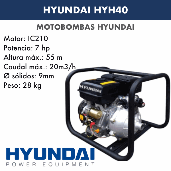 Motobombas gasolina Hyundai HYH40