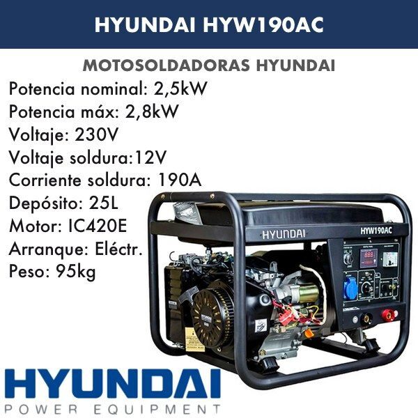 Motosoldadora Hyundai HYW190AC (c. alterna)