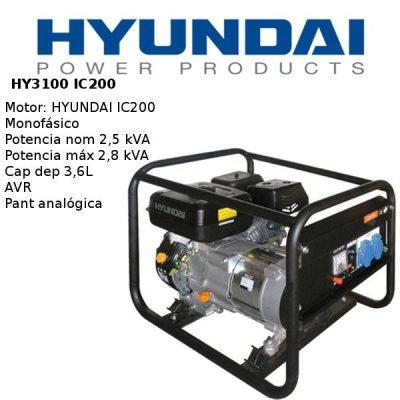 Generador electrico Hyundai HY3100
