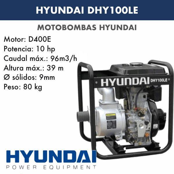 Motobomba diésel Hyundai DHY100LE