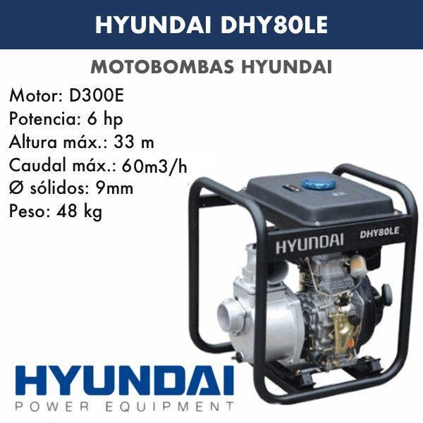 Motobomba diesel Hyundai DHY80LE