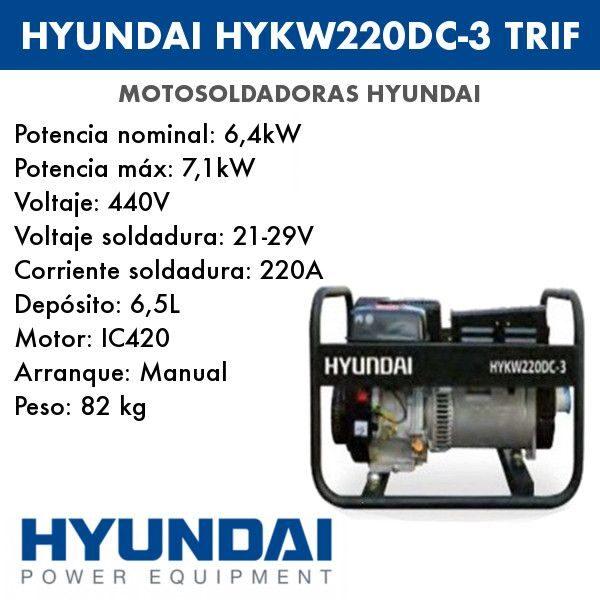 Motosoldadura Hyundai HYKW220DC-3