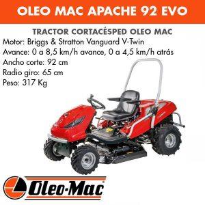 Tractor Desbrozador Oleo-mac APACHE 92 EVO