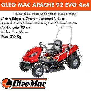 Tractor Desbrozador Oleo-mac APACHE 92 EVO 4x4