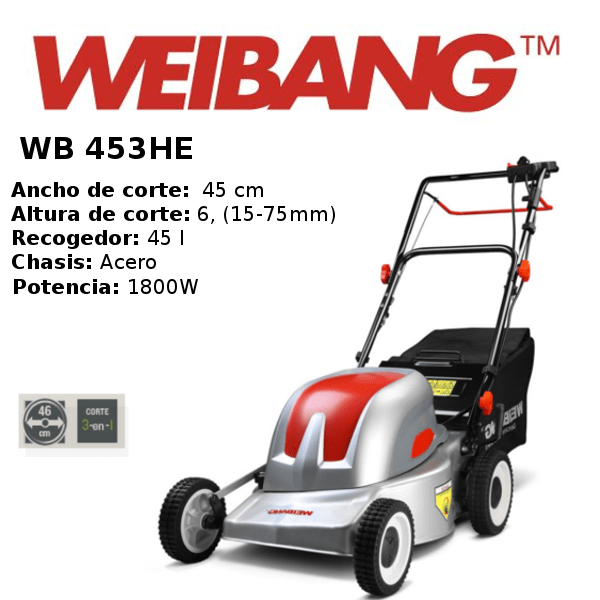 Cortacesped-weibang- WB 453HE