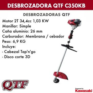 Desbrozadora QTF C350KB KAWASAKI